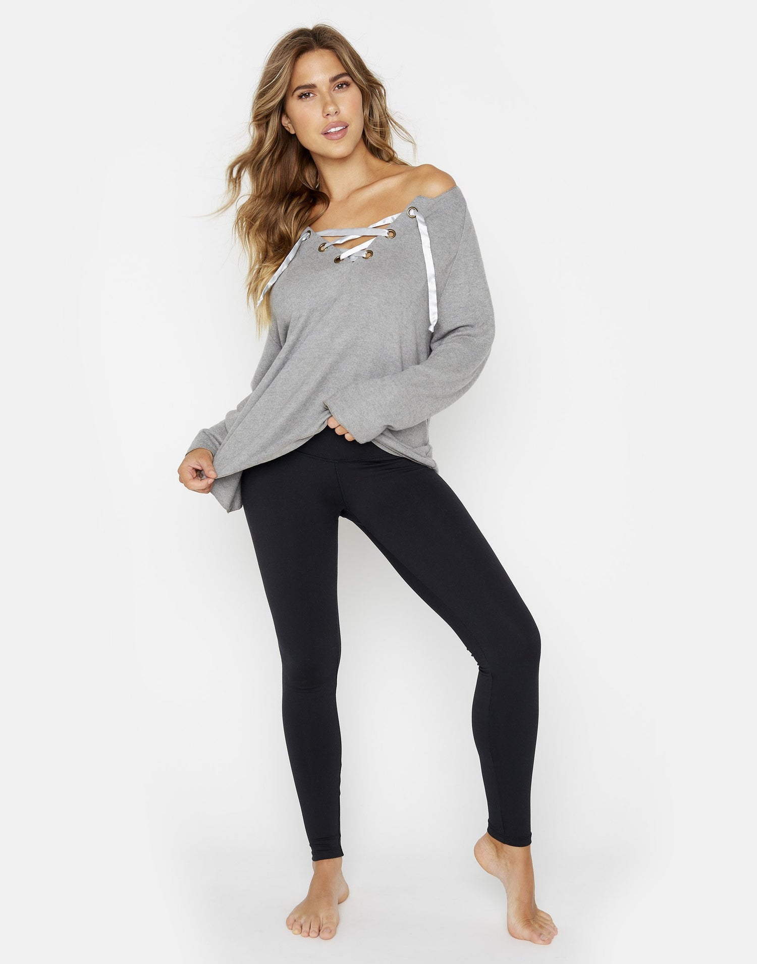 Heather Gray Josie Sweatshirt - Front View