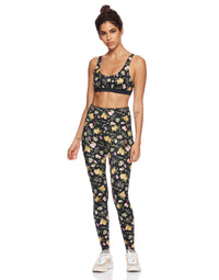 Sunny Legging in Black Floral - front view