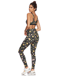 Sunny Legging in Black Floral - back view