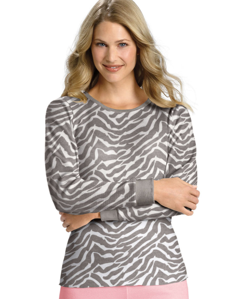 Women's X-Temp Thermal Printed Crew Shirt