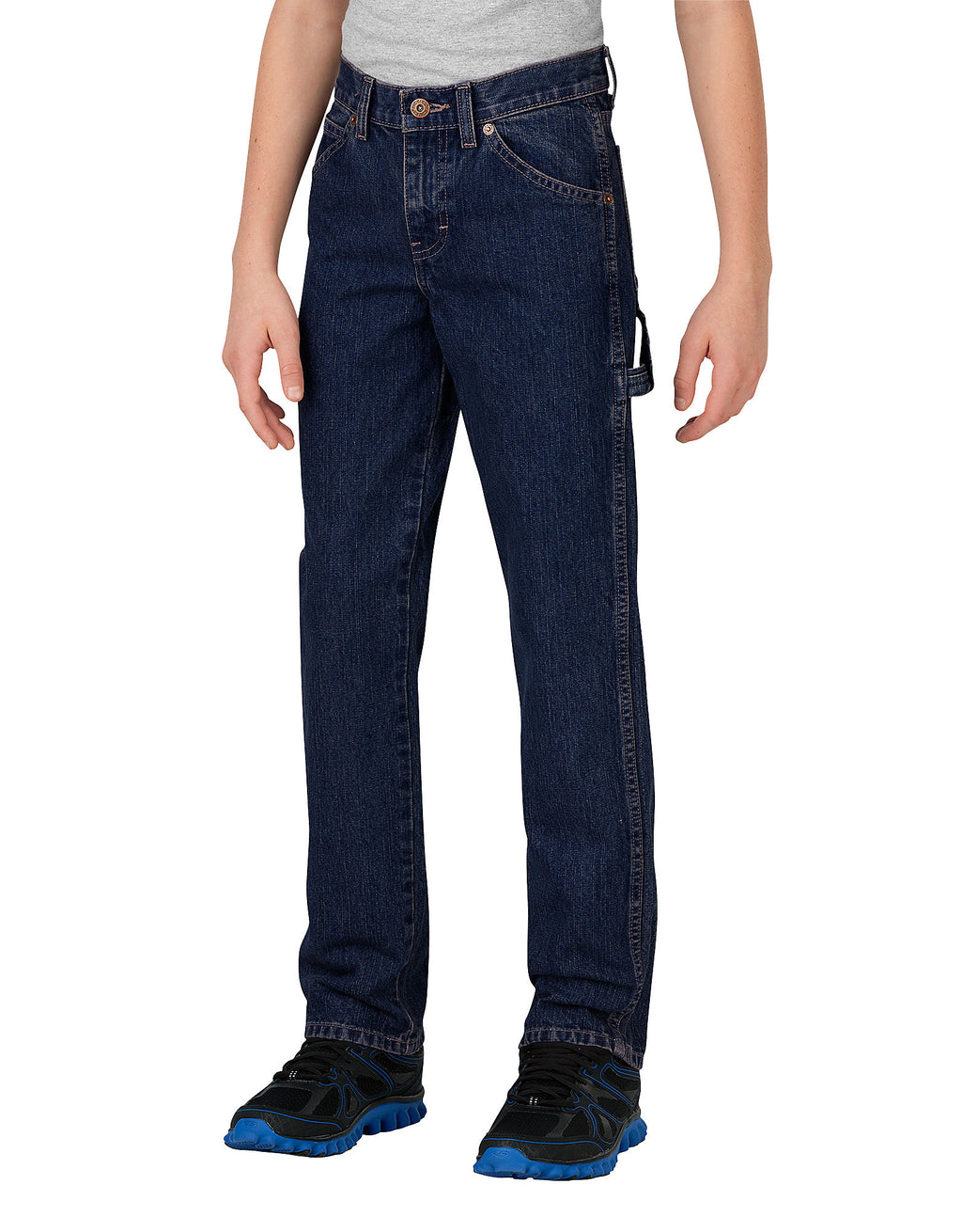 Dickies Boys Relaxed Fit Straight Leg Denim Carpenter Jeans, Sizes 8-20