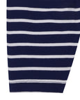 Jersey Dungaree Set- Navy Stripe
