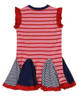 Dress Circle Insert Dress-Pink/Navy