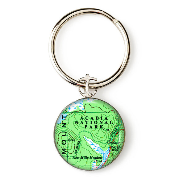 Acadia National Park Anchor Key Ring