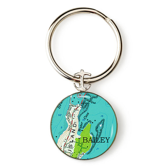 Bailey Island 2 Key Ring
