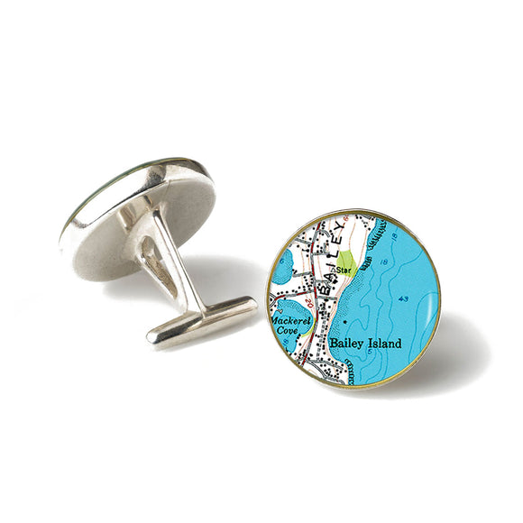 Bailey Island Mackerel Cove Cufflinks