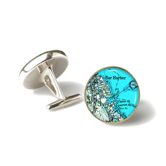 Bar Harbor Blue Cufflinks