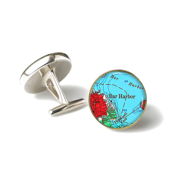 Bar Harbor Red Cufflinks
