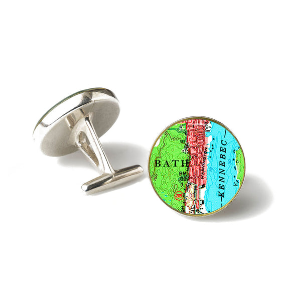 Bath Kennebec River Cufflinks
