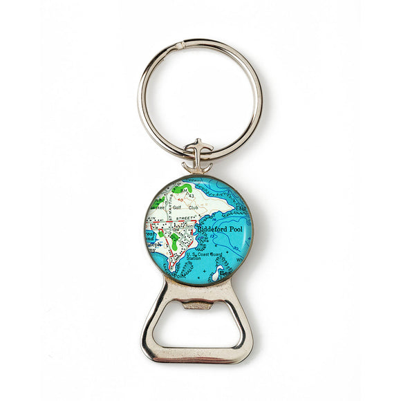 Biddeford Pool Combination Bottle Opener with Key Ring