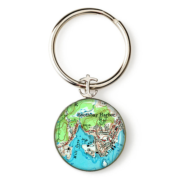 Boothbay Harbor 2 Key Ring