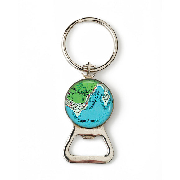 Cape Arundel Sandy Cove Combination Bottle Opener with Key Ring