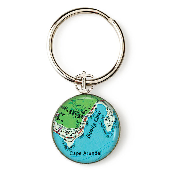 Cape Arundel Sandy Cove Anchor Key Ring