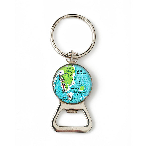 Cape Porpoise Combination Bottle Opener with Key Ring