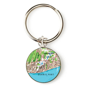 Dennisport Anchor Key Ring
