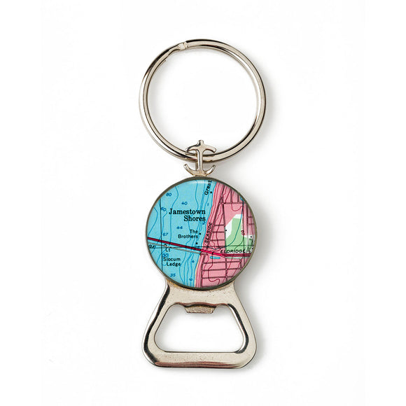 Jamestown Combination Bottle Opener With Key Ring