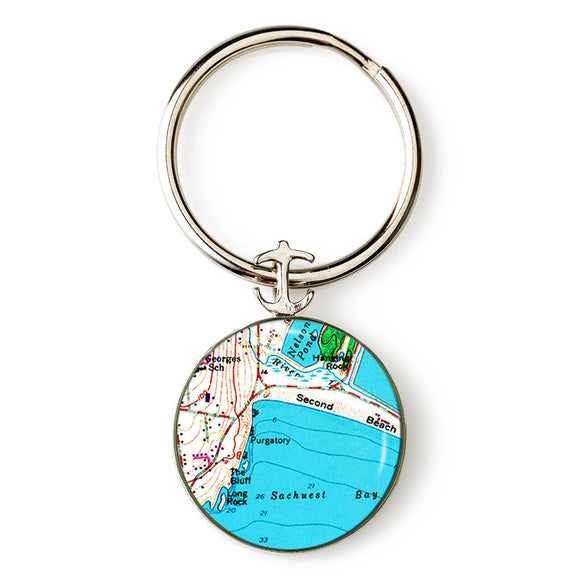 Newport Second Beach Anchor Key Ring