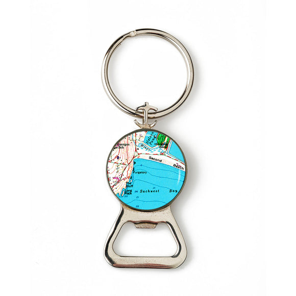 Newport Second Beach Combination Bottle Opener With Key Ring