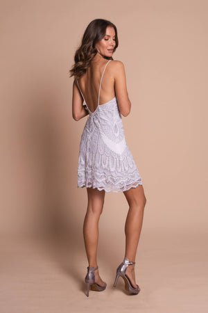 jennifer mini dress white side