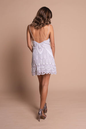 jennifer mini dress white back
