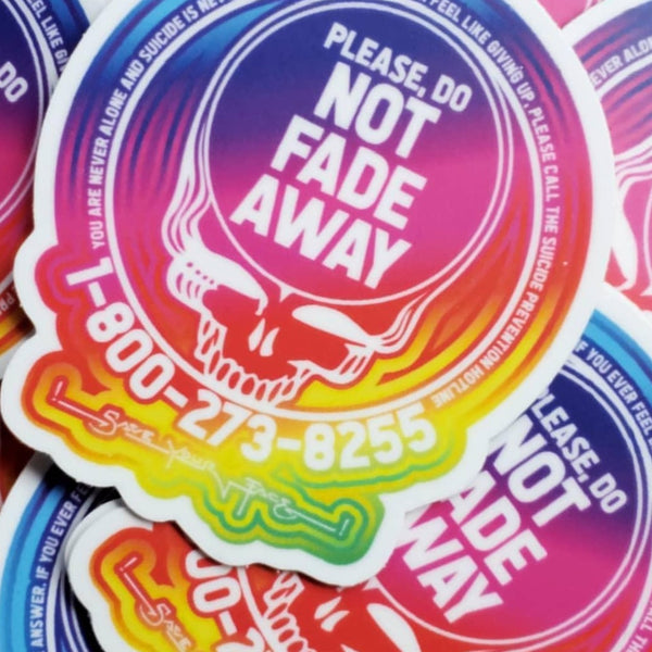 Bulk Save Your Face Stickers - Rainbow