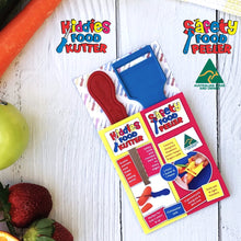 Load image into Gallery viewer, Twin Pack - Kiddies Food Kutter & Safety Food Peeler