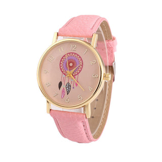 Casual Leather Ladies Quartz Watch