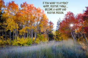 Attract Positivity Inspirational Art