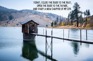 Open The Door To The Future Inspirational Art