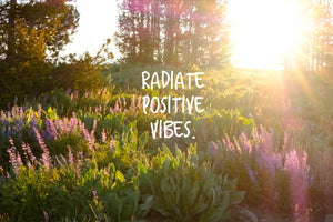 Radiate Positive Vibes Inspirational Art