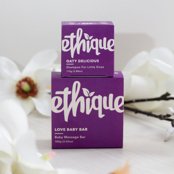 Ethique Baby Shampoo and Massage Bar Bundle