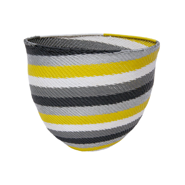 Telephone Wire Stripe Bowl (citron) by Safari Fusion www.safarifusion.com.au