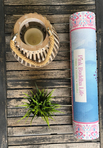 Pink Lotus Yoga Mat