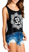 Namaste Graphic Yoga Cropped Tank Top