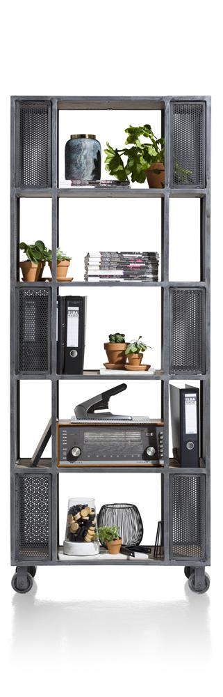 Habufa Vitoria Gun Metal and Oak Room Divider