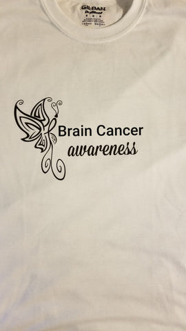Butterfly Design - Brain Cancer T-Shirt (S-XL)