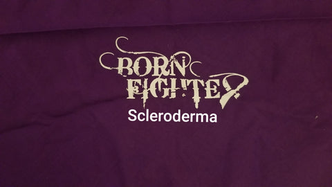 Scleroderma Born Fighter Warrior Long Sleeve T-Shirt (2XL-5XL)