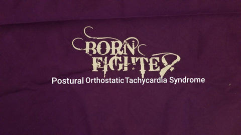Postural Orthostatic Tachycardia Syndrome P.O.T.S. Born Fighter Warrior Long Sleeve T-Shirt (S-XL)