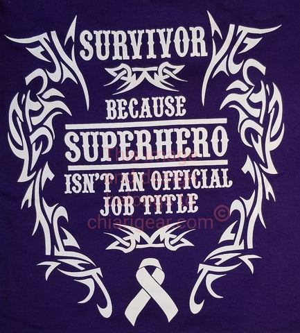 Survivor SuperHero Ladies V-Neck T-Shirt (2XL-5XL)