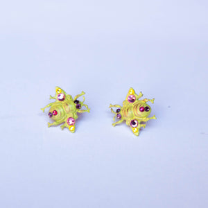 Yellow Bumblebees earrings