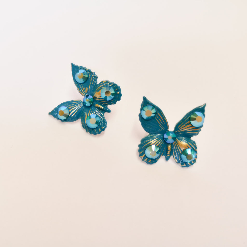Vibrant Turquoise Butterfly earrings