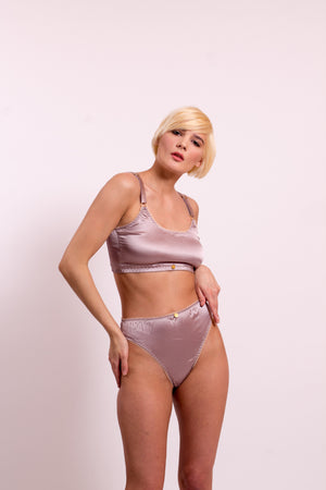 Silk Satin High Rise Thongs. 20 colours to choose from