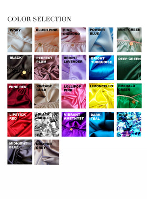 Athena Silk Satin Bra. 20 colours to choose from