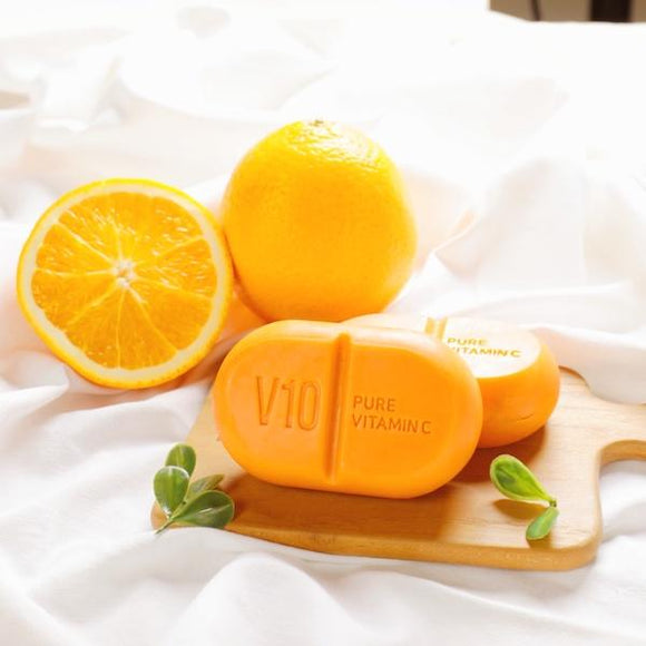 [SOME BY MI] V10 Multi Vita Cleansing Bar + Gift *Free Bubble Foam Net - beautique-online