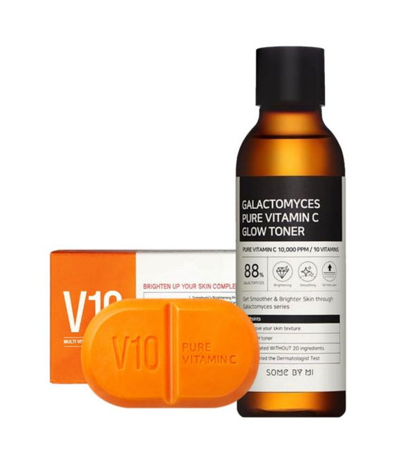 [SOME BY MI] Vitamin C Set - Galactomyce Toner & V10 soap & bubble net - beautique-online