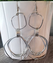 Load image into Gallery viewer, Square Multiple Hoops Earrings