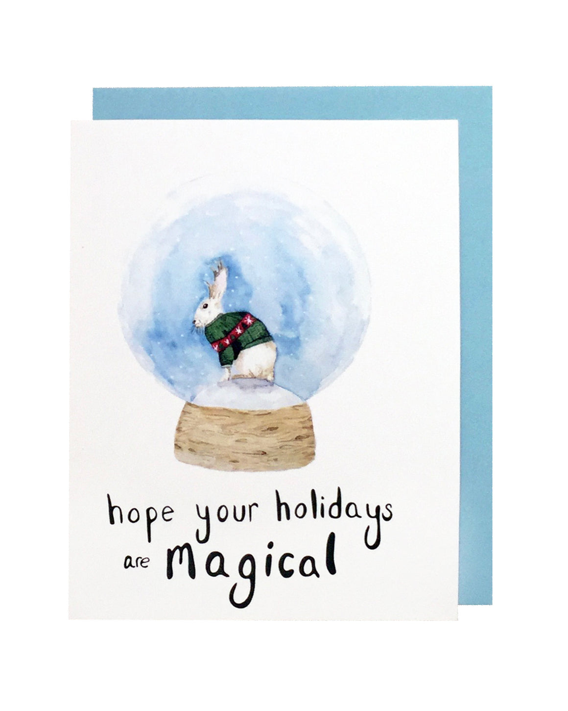 Jackalope Snow Globe Card Set of 6