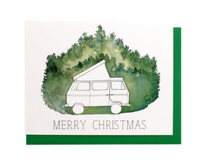 Camper Van Christmas Card Set of 6