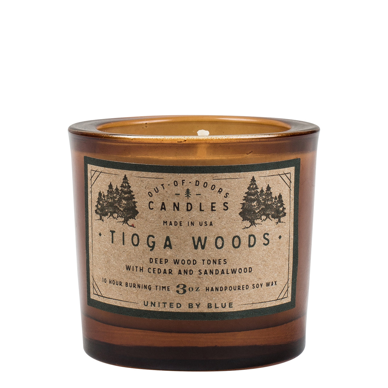 United By Blue 3 oz. Tioga Woods Out-of-Doors Candle