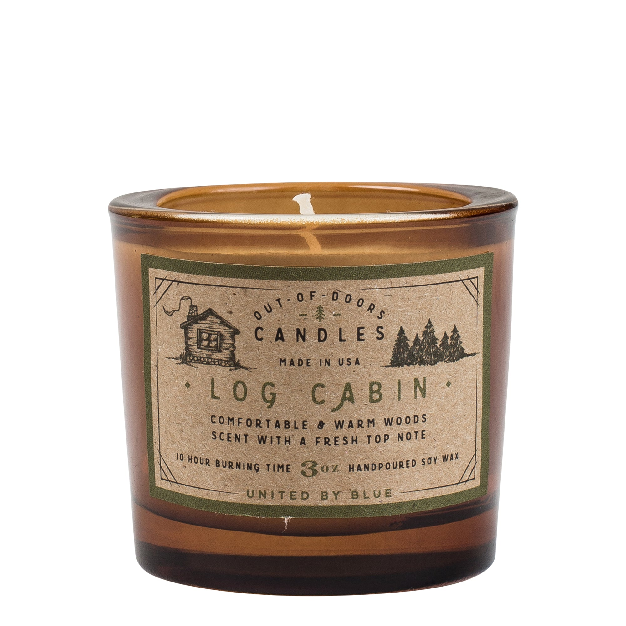 United By Blue 3 oz. Log Cabin Out-of-Doors Candle
